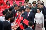 Ông Tập Cận Bình bắt đầu chuyến thăm Hong Kong