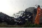 Hà Nội: Hàng loạt ô tô đâm liên hoàn trên cầu Thanh Trì