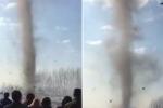 Lốc xoáy 'ma quái' càn quét nghĩa địa ở Trung Quốc vào ngày tảo mộ