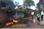 Nước sinh hoạt bỗng nổi váng, bốc cháy dữ dội ở Đắk Lắk