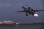 Video: Chiến cơ Su-24 cất cánh mạnh mẽ từ căn cứ Hmeymim