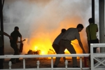 Cháy lớn ở ĐH quốc gia Hà Nội, nhiều xe máy bị thiêu rụi