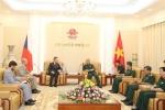 Thượng tướng Nguyễn Chí Vịnh tiếp Đại sứ Cộng hòa Séc tại Việt Nam