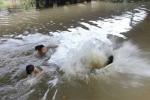 Học bơi trên sông, bé trai 13 tuổi đuối nước thương tâm