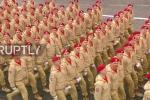 Thiếu sinh quân Nga bước đều tăm tắp trong lần đầu duyệt binh Ngày Chiến thắng