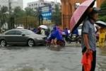 Cảm phục cụ ông đứng dầm mưa hàng giờ làm 'biển báo sống'