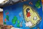 Ngắm làng tranh bích họa đẹp nhất Việt Nam