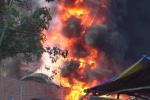 Video: Cận cảnh hiện trường vụ hỏa hoan thiêu rụi 2 cơ sở sản xuất lốp ô tô ở Quảng Ngãi