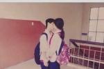 Nam sinh lớp 8 hôn bạn gái tại trường học khiến dân mạng xôn xao
