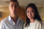 Cristiano Ronaldo ôm eo chụp ảnh cùng Á hậu Thuỳ Dung