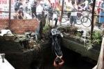 Đại úy công an rơi xuống cống thoát nước thiệt mạng
