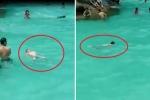 Sự thật clip nhiều người thản nhiên nhìn bé trai bị đuối nước ở bể bơi