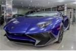 Cận cảnh siêu phẩm Lamborghini Aventador SV màu xanh 'cực độc' tại Việt Nam