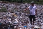 Cận cảnh hàng trăm tấn chất thải bốc mùi nồng nặc  tại Thiên Cầm nghi là từ Formosa