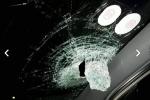 Cả gia đình đi ô tô bị ném đá vỡ kính trên cao tốc Hà Nội - Thái Nguyên
