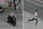 Thanh niên 'nhảy' xe SH trong tích tắc, 2 người đàn ông bất lực truy đuổi