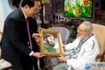 Ảnh: Lãnh tụ Cuba Fidel Castro trong cuộc gặp Chủ tịch nước Trần Đại Quang