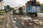 Hà Nội: Dân chặn đường, hàng trăm xe rác ngập ngụa phố xá