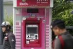 Hàng chục ngàn USD bị rút trộm tại các cây ATM ở Thái Lan
