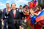 Ảnh: Chủ tịch nước Trần Đại Quang bắt đầu chuyến thăm Liên bang Nga