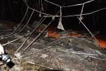 Trung tâm văn hóa tỉnh cháy dữ dội dù trời đang mưa lớn