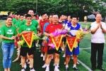 Các nhà báo Hà Nội tham gia đá bóng giao hữu với Grab