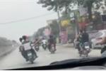 Xử lý nghiêm nhóm thanh niên lái xe máy bằng chân, làm 'xiếc' trên quốc lộ