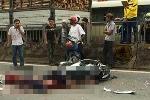 Chạy xe máy vào làn ô tô, 3 thanh niên bị xe tải tông chết