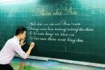 Thầy giáo điển trai có tài viết chữ đẹp như in