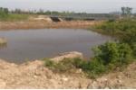 Một diện tích rừng ngập mặn ở Quỳnh Thanh mới bị phá để làm ao nuôi tôm cạnh bên đường tỉnh lộ