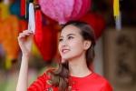 Khánh Ngân 'The Face' diện áo dài xinh đẹp, rạng rỡ đón Tết