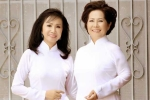 Phương Dung, Trang Mỹ Dung diện áo dài về thăm trường