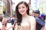 Á hậu Huyền My nổi bật trên thảm đỏ 'Liên hoan phim Okinawa' tại Nhật Bản