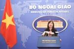 Trung Quốc tập trận ở Biển Đông, Bộ Ngoại giao Việt Nam lên tiếng