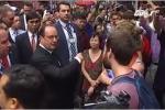 Tổng thống Pháp thích thú dạo bộ, khám phá phố cổ Hà Nội