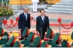 Toàn cảnh Chủ tịch nước Trần Đại Quang đón Tổng thống Obama