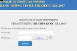 Ninh Bình công bố địa chỉ tra cứu điểm thi THPT Quốc gia 2017