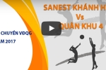 Trực tiếp bóng chuyền VĐQG: Sanest Khánh Hòa vs Quân khu 4