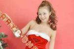 Vẻ quyến rũ của DJ Trang Sarah trong bộ ảnh đón Noel