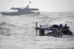 Bão số 4 đổ bộ: Một người mất tích, nhiều tàu thuyền bị chìm trên biển