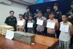 Bắt 5 thanh niên người Lào vận chuyển 40 bánh heroin