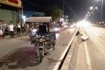 Tông ngã 2 người trên xe máy rồi bỏ chạy, xe ba gác gặp nạn