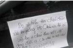 Làm vỡ gương, để lại số điện thoại, lời xin lỗi trên kính ô tô: Nam sinh lên tiếng