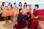 """Mỹ nữ Tây Du Ký cưới tỷ phú """"chơi trội"""" với 10 cặp phù dâu phù rể"""
