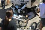 Xe khách chồm lên 4 xe máy ở Cát Bà, 7 người trọng thương