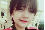 Nữ sinh cảnh sát xinh đẹp kêu gọi ủng hộ đồng bào miền Trung