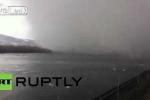 Clip: Hiện tượng mây tuyết kỳ quặc trên bầu trời Nga