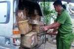 Truy tìm tài xế lao thẳng xe chở gỗ vào lực lượng công an