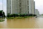 Xuất hiện 'ốc đảo' giữa lòng Thủ đô sau trận mưa kỷ lục