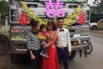 Phát sốt với màn rước dâu bằng xe tải của chú rể Vĩnh Phúc